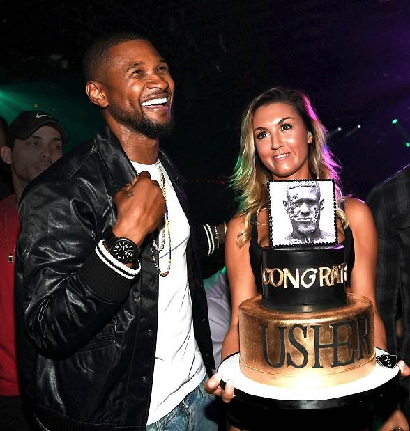 Usher Celebrates Album Release Party with Ludacris, Lil Jon, Lea Michele, Wilmer Valderrama and at 1 OAK Las Vegas