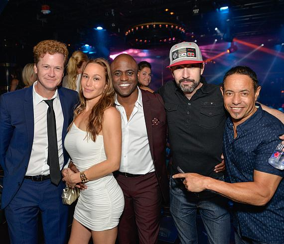 Wayne Brady and friends at 1 OAK Nightclub