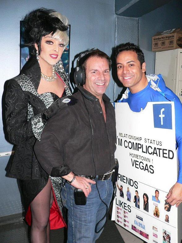 Zumanity's Mistress of Sensuality Edie, Director of Entertainment for MGM Grand Barry Morgan and local TV anchor Chris Saldana