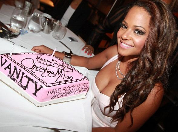 Christina Milian Celebrates 30th Birthday at Hard Rock Hotel & Casino in Las Vegas