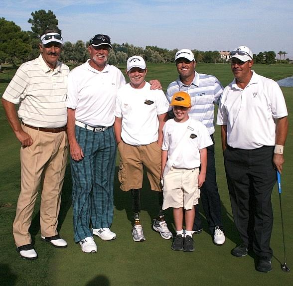 Rollie Fingers, Goose Gossage, Hunter Woodhall, Ryan Palmer, Greg Maddux