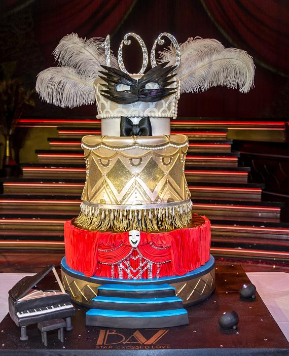 100th Show Cake Created by Las Vegas Custom Cake