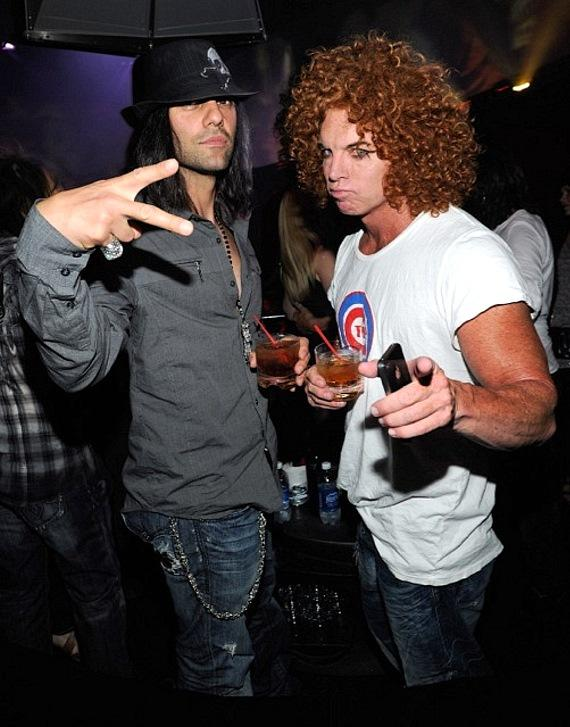 Illusionist Criss Angel and comedian Carrot Top