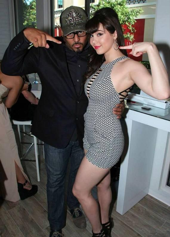 Al B Sure and Claire Sinclair at The Style Lounge.