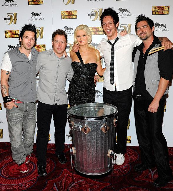 Holly Madison with Recycled Percussion