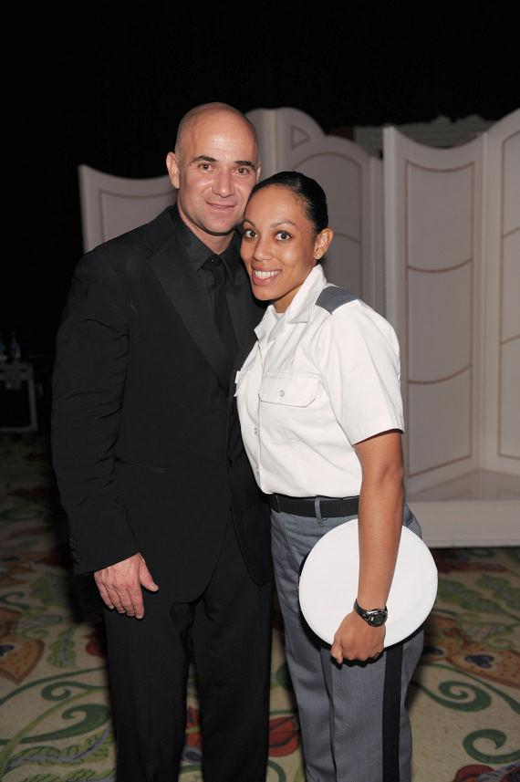 Andre Agassi and Ashley Justice