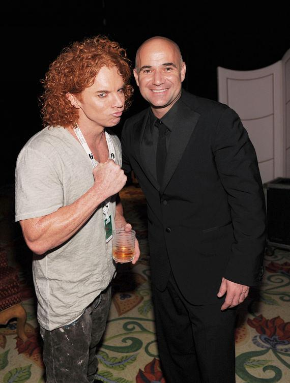 Carrot Top with Andre Agassi