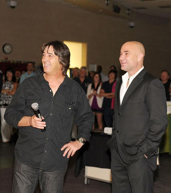 Artist Loppo Martinez and Andre Agassi at 2010 Andre Agassi Grand Slam For Children
