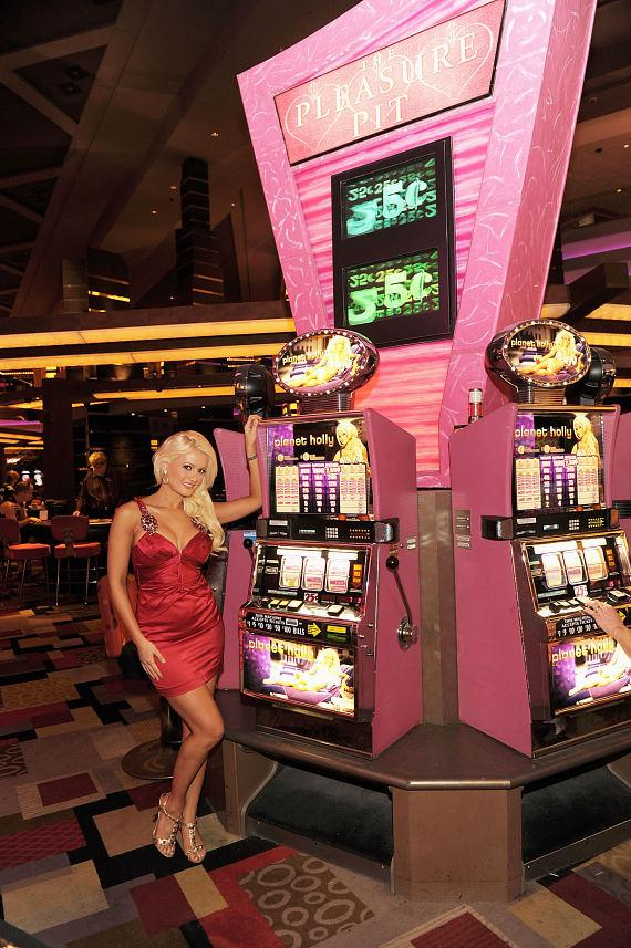 Holly Madison unveils new Planet Holly slot machines at Planet Hollywood in Las Vegas
