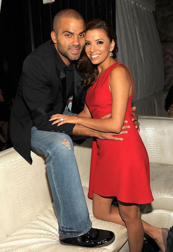 Eva Longoria Parker and husband Tony Parker