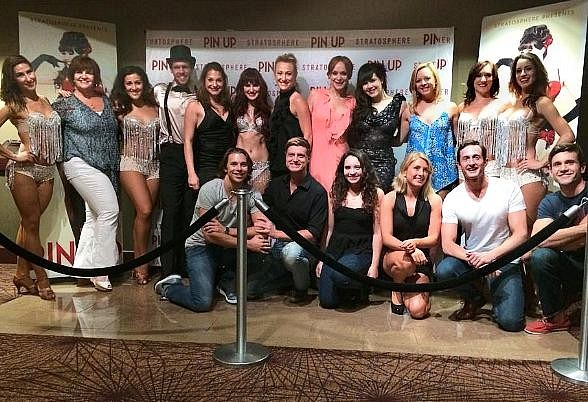 "Cast of MAMMA MIA! The Musical Visits Claire Sinclair's ""PIN UP"" at The Stratosphere in Las Vegas"