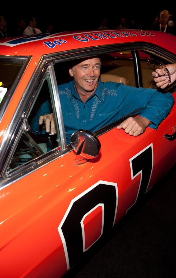 John Schneider with General Lee from Dukes of Hazzard