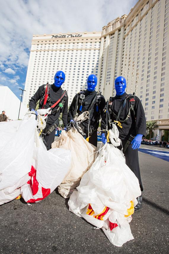 Blue Man Group Lands at New Home with Mesmerizing Skydive Arrival at Monte Carlo Resort & Casino