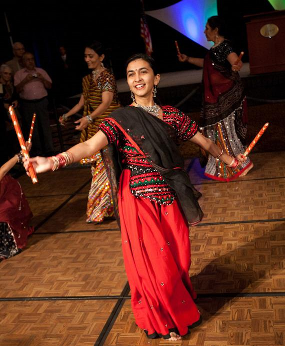 Indian dancers entertain the audience