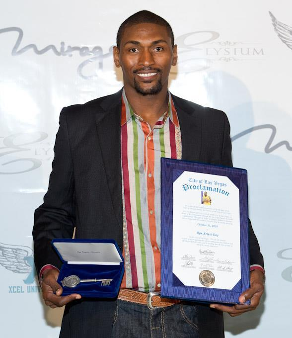 L.A. Lakers' Ron Artest receives Key to City of Las Vegas