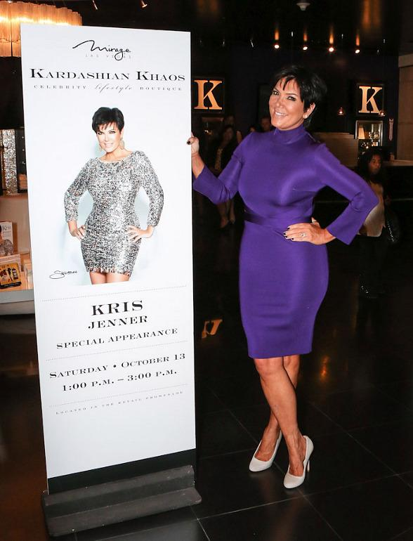 Kris Jenner Makes First Solo Appearance at Kardashian Khaos at The Mirage in Las Vegas