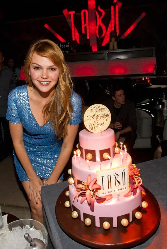 Aimee Teegarden celebrates 21st birthday at Tabu Ultra Lounge