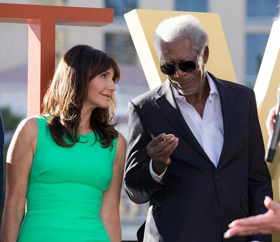 Mary Steenburgen and Morgan Freeman
