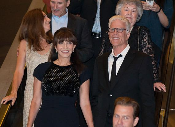 Mary Steenburgen and husband Ted Danson arrive at HAZE Nightclub