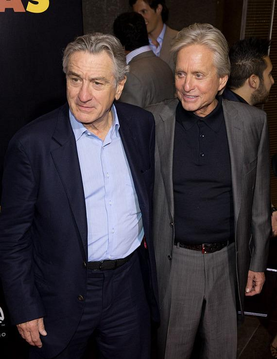 Robert De Niro and Michael Douglas at HAZE Nightclub in Las Vegas