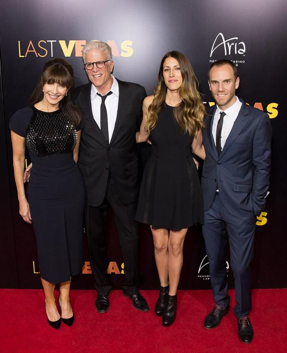 Mary Steenburgen and husband Ted Danson with children Kate Danson and Charlie McDowell