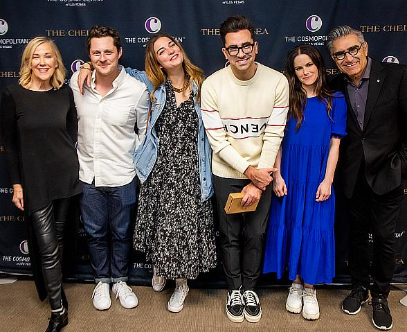 """The Cosmopolitan of Las Vegas Hosts """"Schitt's Creek"""" Cast for a Sold-Out Night of Comedy at The Chelsea"""