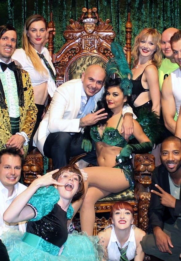 Pitbull Attends ABSINTHE at Caesars Palace