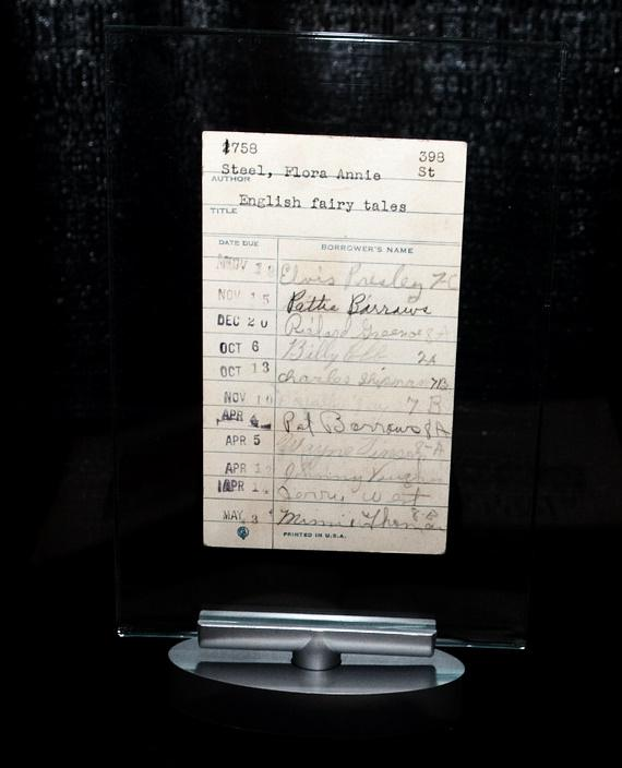Earliest known Elvis signature on a library book card