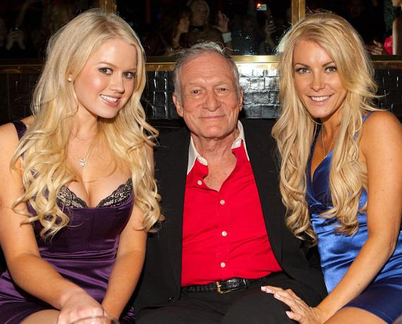 Anna Sophia Berglund, Hugh Hefner and Crystal Harris in Playboy Club