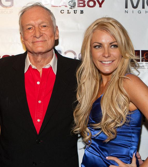 Hugh Hefner and Crystal Harris at the Playboy Club in Las Vegas in November, 2010