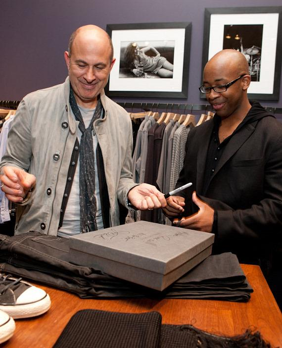 John Varvatos signs boxes for guests