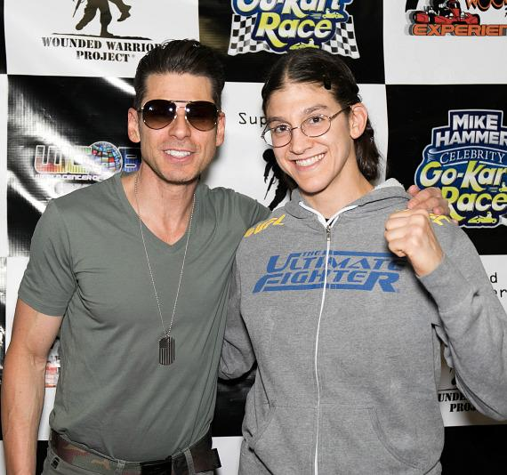 Mike Hammer with MMA fighter Roxanne Modafferi