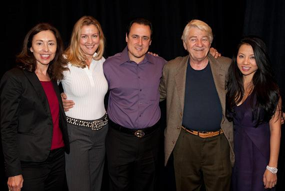 Seymour Cassel with 'Reach For Me' film producers Susan Rogers and Charlene Blaine-Schulenberg and Angelo Girdano (center) and Christine Giordano (far right) at AARP's Vegas@50+ screening of the film