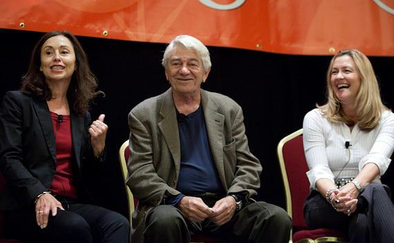 Seymour Cassel with 'Reach For Me' film producers Susan Rogers and Charlene Blaine-Schulenberg at AARP's Vegas@50+ film screening of the film