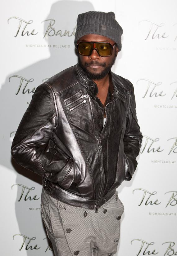 Will.I.Am at Black Eyed Peas concert after party at The Bank