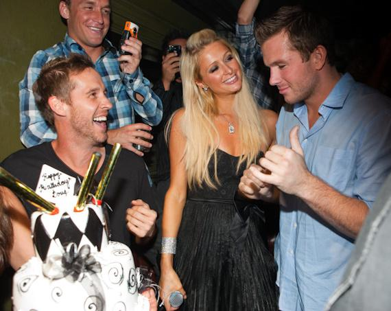 Doug Reinhardt celebrates birthday with Paris Hilton at Body English