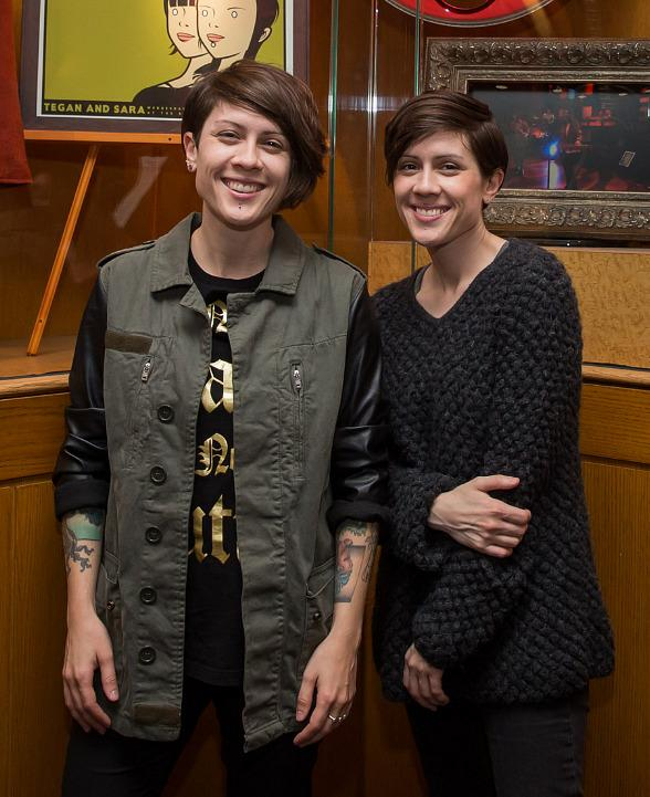 Rock Duo Tegan and Sara Check Out New Memorabilia Showcase at Hard Rock Hotel in Las Vegas