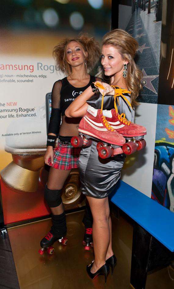 Lo Bosworth and roller derby girl