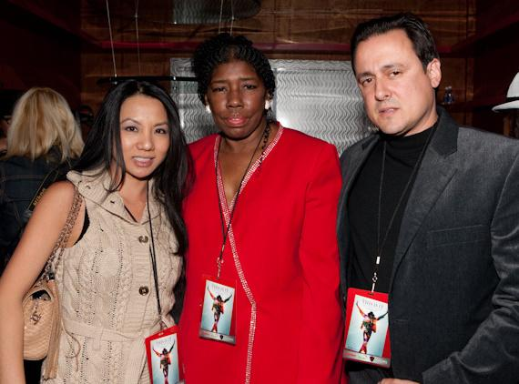 Cherilyn Lee (Michael Jackson's nurse) with Christine (right) and Angelo Giordano