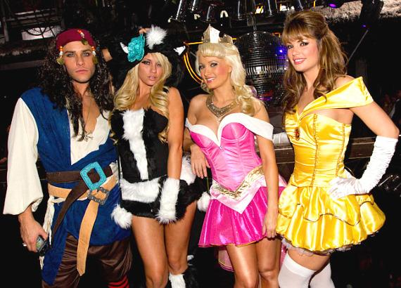 Josh Strickland, Angel Porrino, Holly Madison and Laura Croft at Studio 54