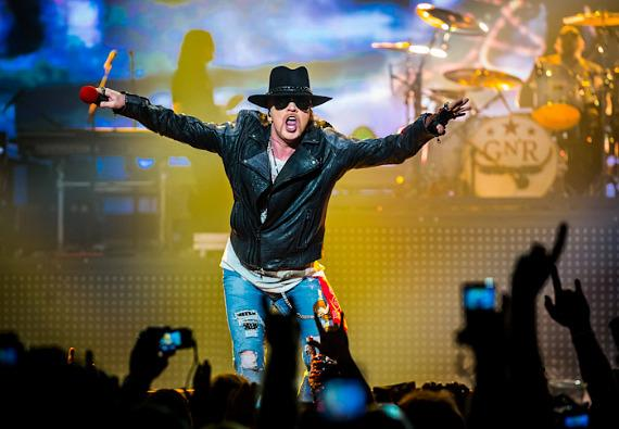 Guns N' Roses front man Axel Rose brought his band to The Joint for a month of shows at Hard Rock Hotel.