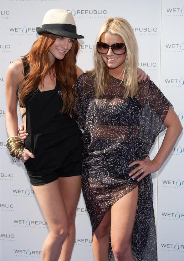 Ashlee Simpson-Wentz Celebrates Birthday at WET REPUBLIC with Pete Wentz, Jessica Simpson