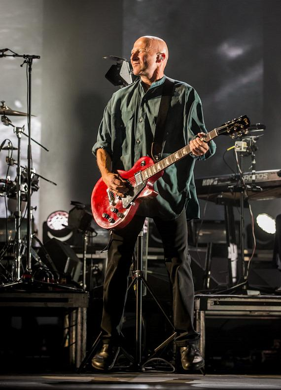 Guitarist David Rhodes performs with Peter Gabriel at Planet Hollywood Resort in Las Vegas