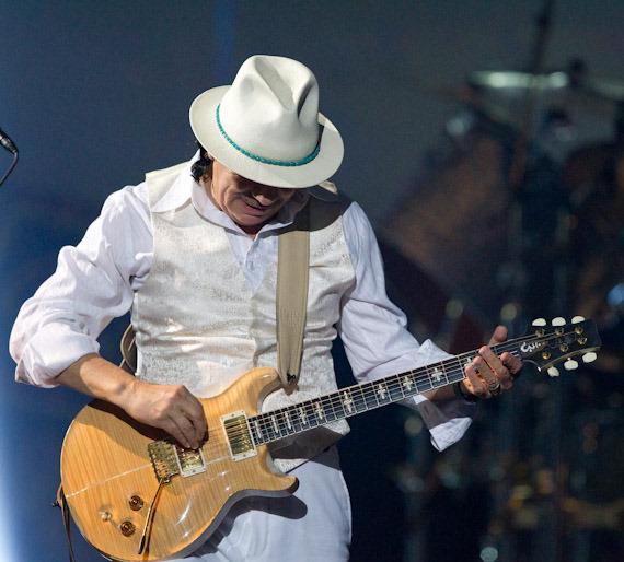 Carlos Santana performs at The Joint at Hard Rock Hotel & Casino