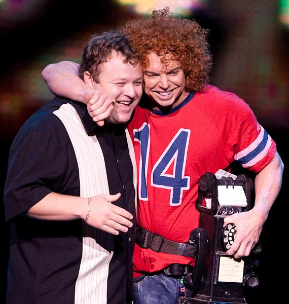 Frank Caliendo and Carrot Top