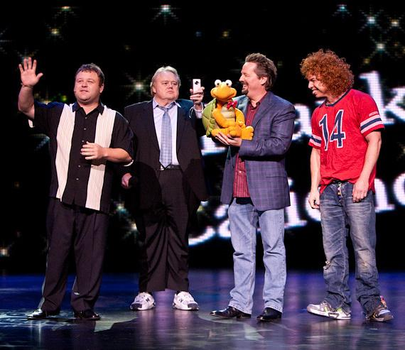 Frank Caliendo, Louie Anderson, Terry Fator and Carrot Top