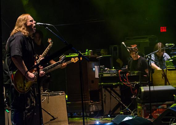 Gov't Mule performs at House of Blues at Mandalay Bay in Las Vegas with MOKSHA keyboard player Brian Triola (far right)