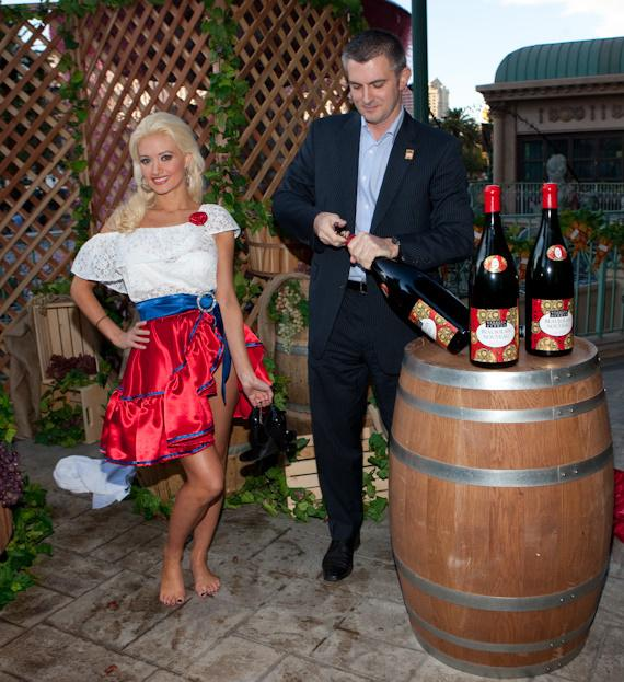 Holly Madison at the 2009 Georges DuBoeuf Beaujolais Nouveau celebration at Paris Las Vegas