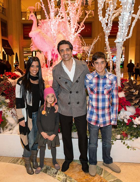 Gilles Marini with wife Carole, daughter Juliana and son Georges