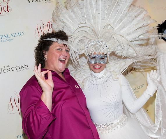 Dot-Marie Jones and Winter in Venice performer